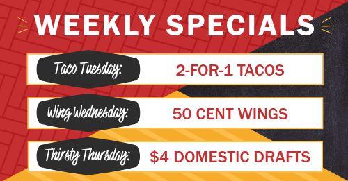 Weekly Specials Facebook Post