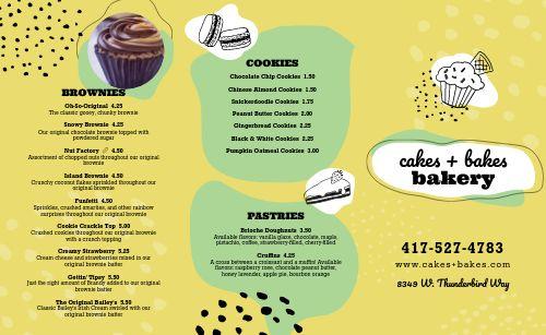 Dessert Takeout Menu Inspiration