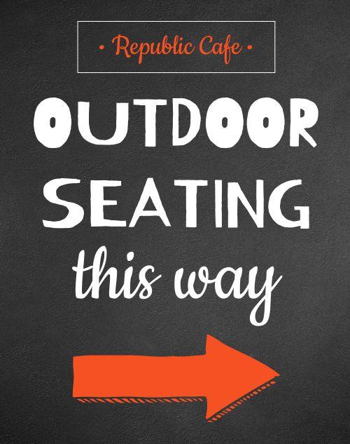 Outdoor Seating Sandwich Board