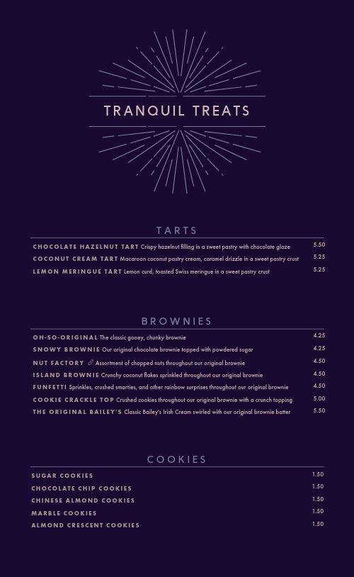 Printable Dessert Menu