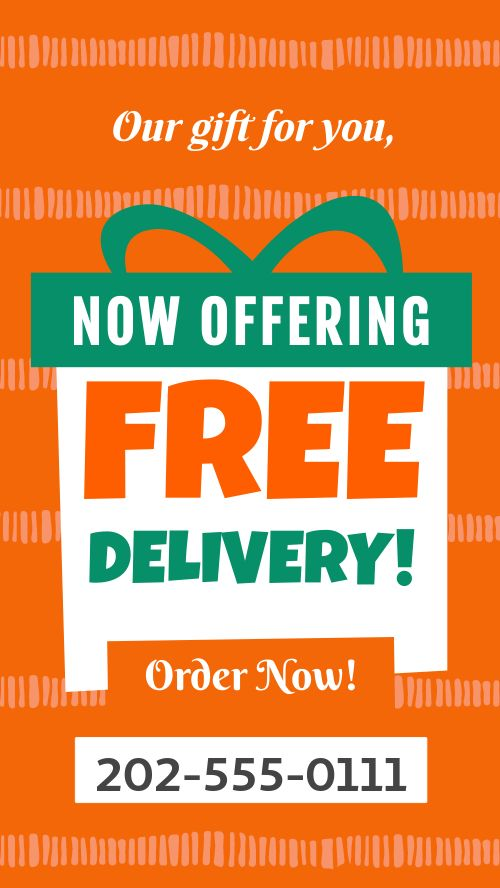 Free Delivery Instagram Story