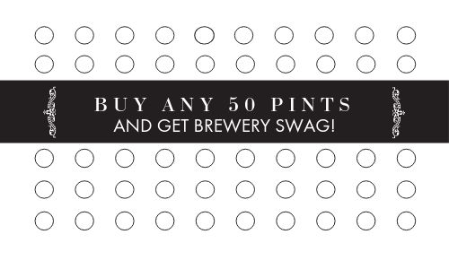 Beer Pints Punch Card