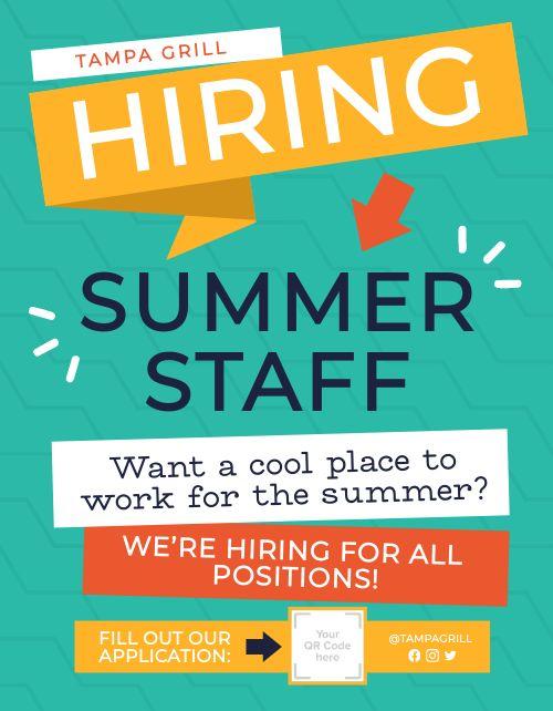 Summer Staff Signage