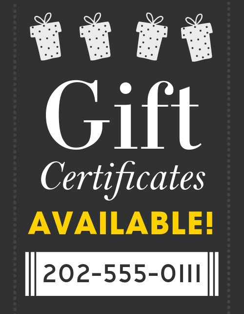 Gift Certificates Available Signage