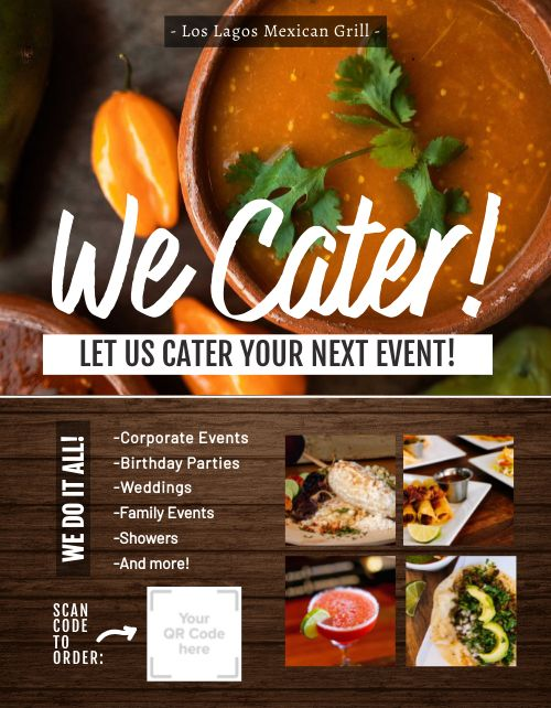 Cater Events Flyer