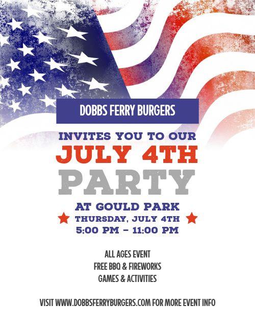 Fourth of July Flag Flyer