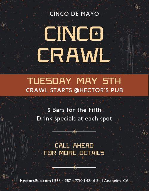 Cinco De Mayo Bar Crawl Flyer