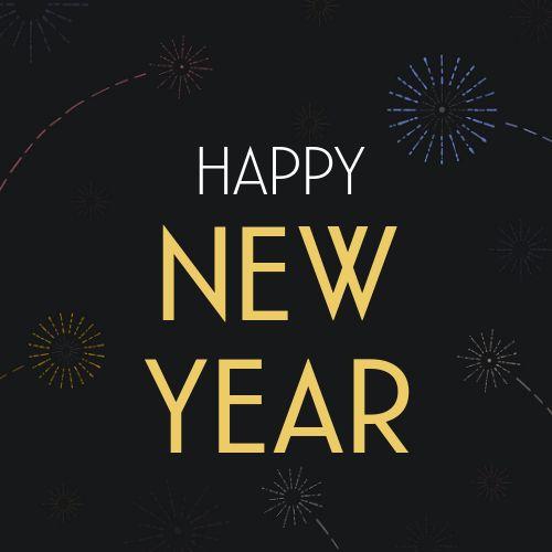 New Years Fireworks Instagram Post