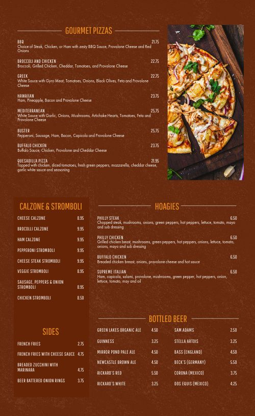 Pizza Palace Menu