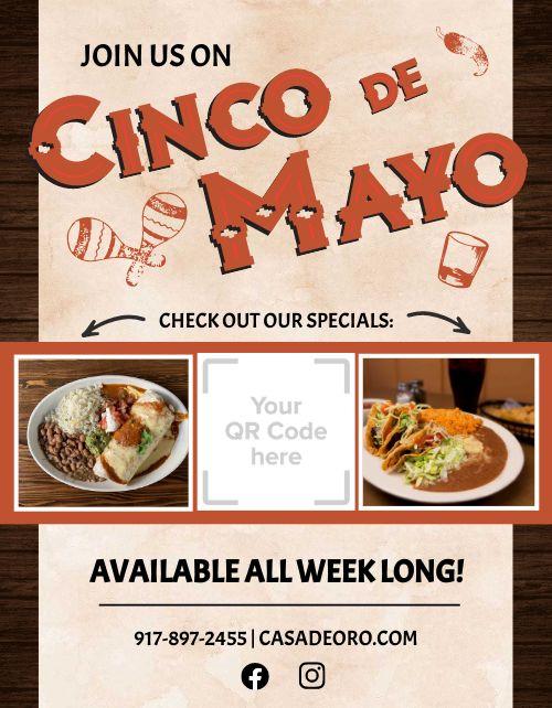 Cinco De Mayo Specials Flyer
