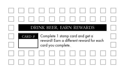 Beer Stein Punch Card