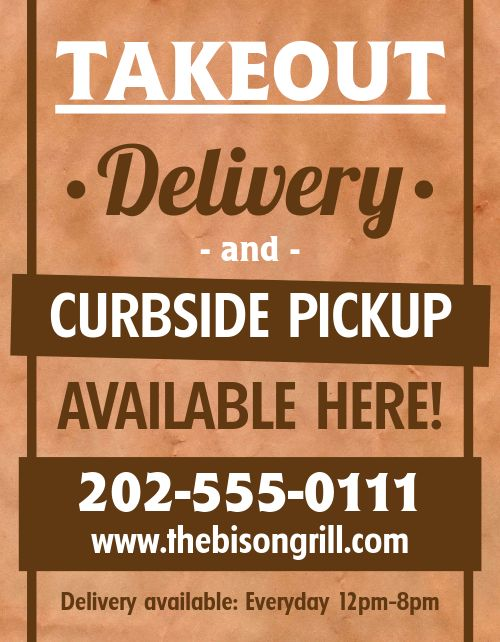 Curbside Available Here Flyer
