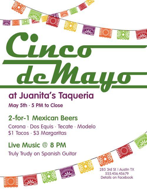 Happy Cinco de Mayo Flyer