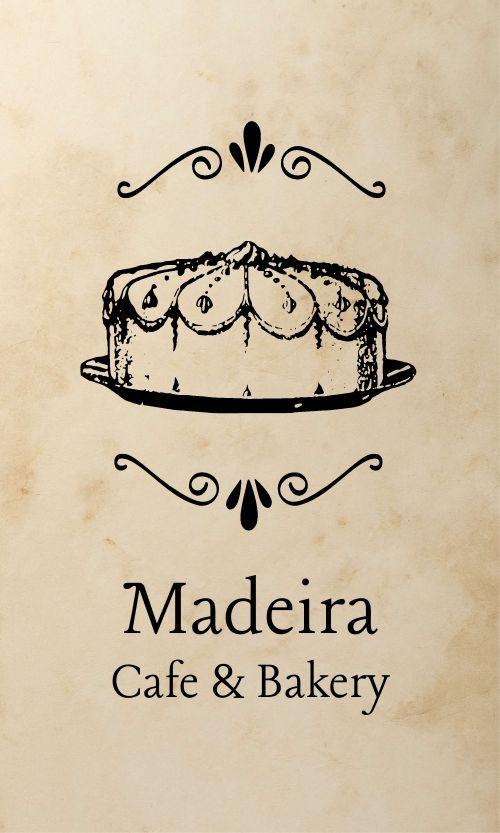 Vintage Bakery Business Card