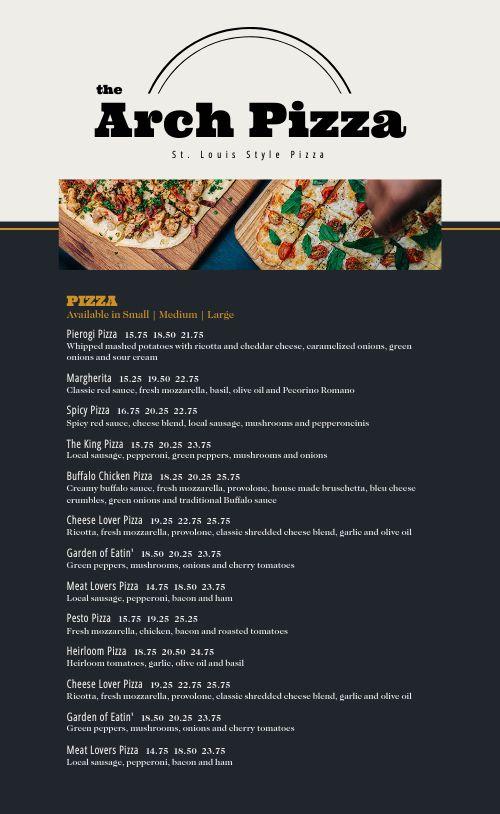St Louis Style Pizza Menu