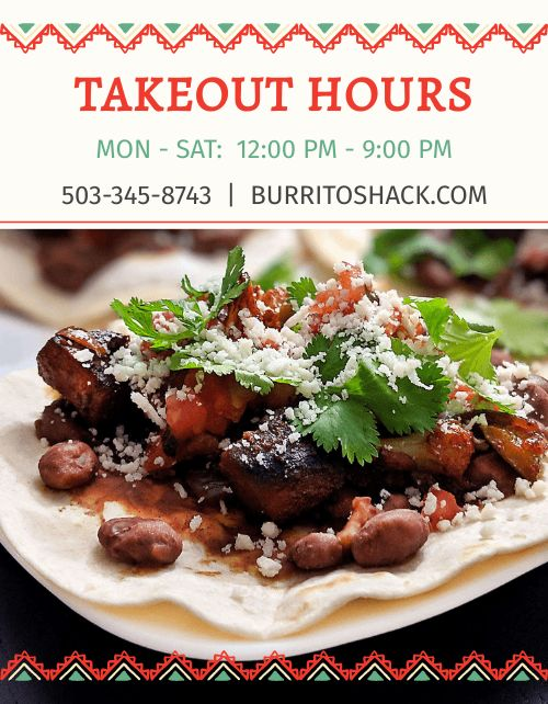 Taco Takeout Flyer