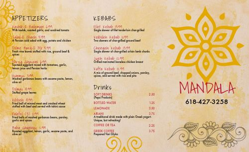 Middle Eastern Takeout Menu Inspiration