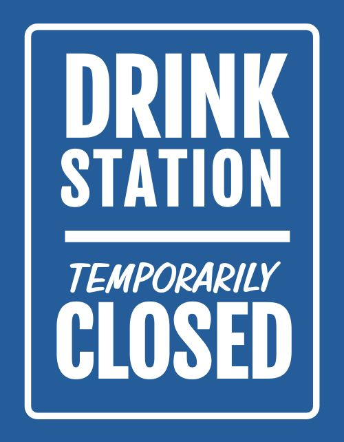 Drinks Closed Announcement