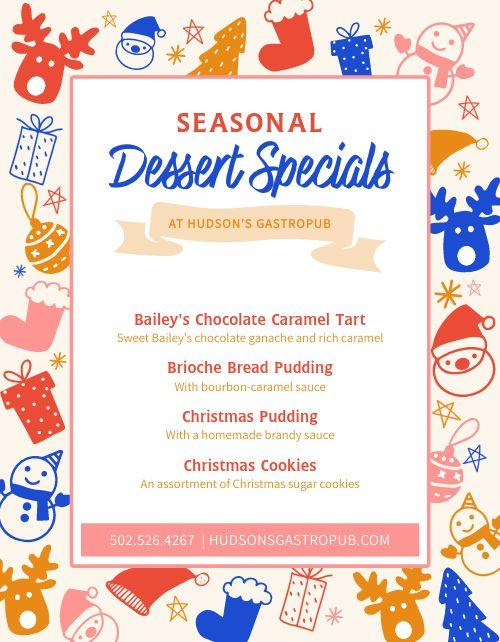 Dessert Specials Flyer