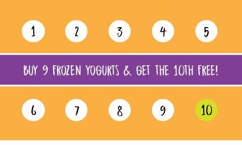 Frozen Yogurt Loyalty Card