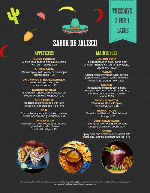 Mexican Cafe Menu