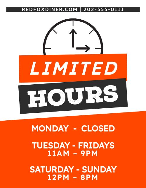 Restricted Hours Flyer