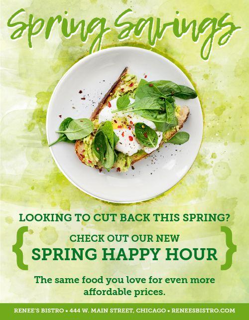 Spring Happy Hour Flyer