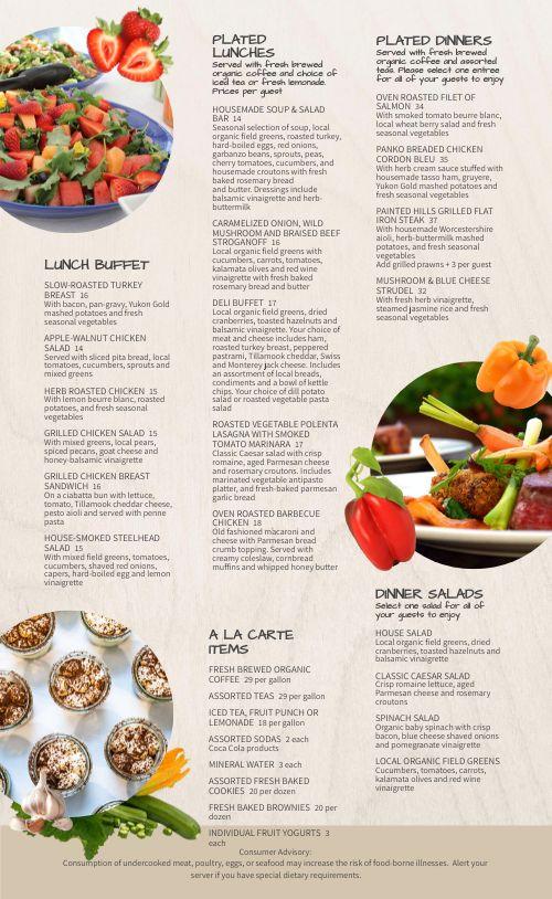 Salad Catering Menu