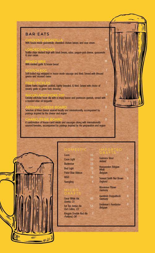 Beer Menu Example