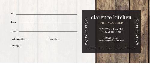 Kitchen Gift Certificate