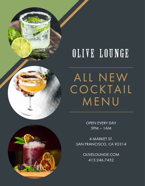 New Cocktail Menu Flyer
