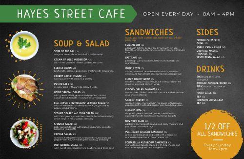 Example Cafe Placemat Menu