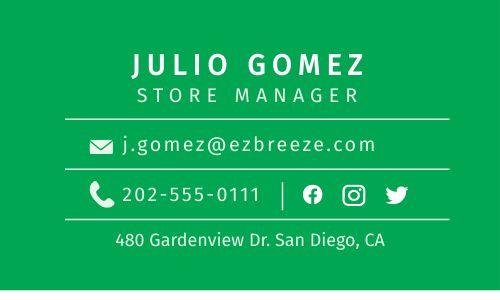 Dispensary Business Card