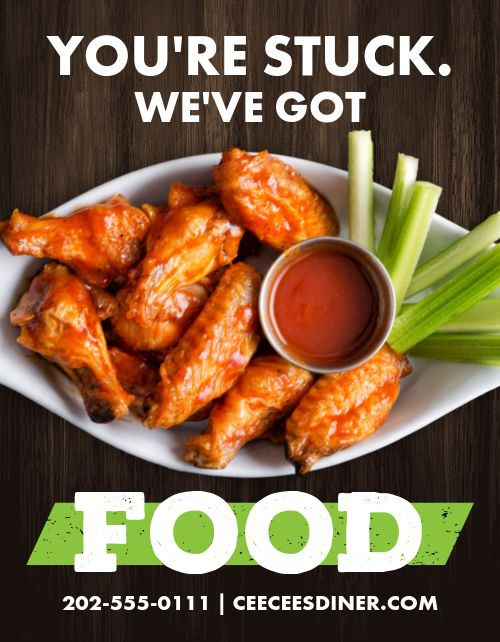 Wings Takeout Flyer