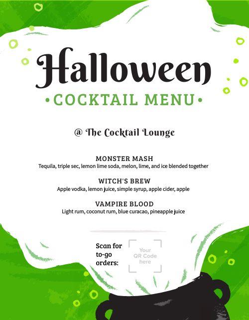 Halloween Cocktail Flyer