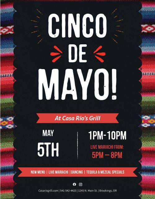 Cinco De Mayo Gathering Flyer