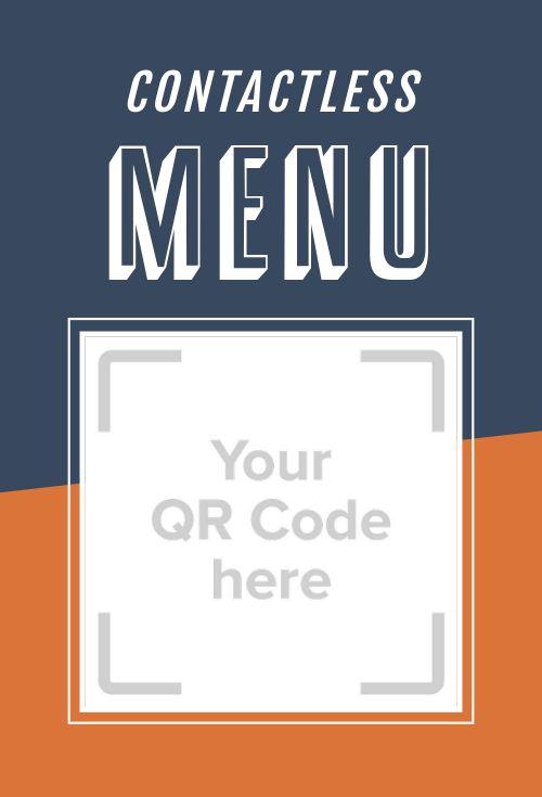 Online Menu Table Placard