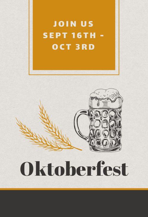 Oktoberfest Table Card