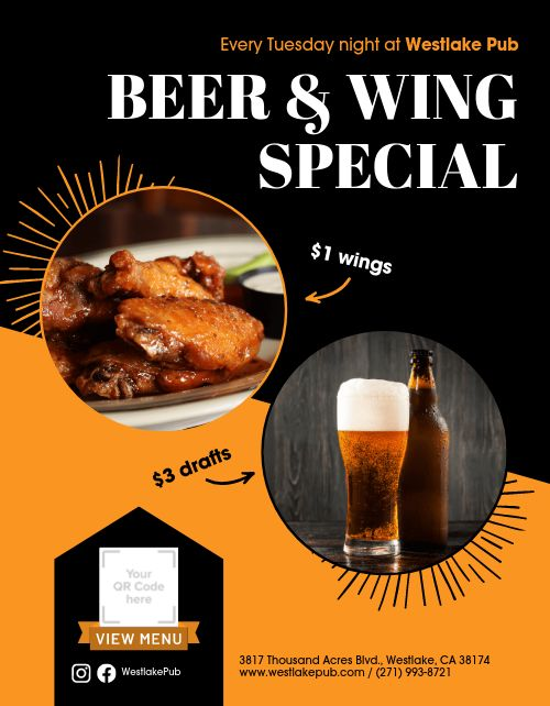 Beer and Wings Flyer