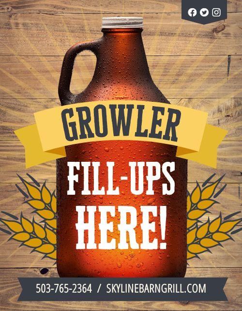 Growler Fill Up Flyer
