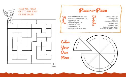 Pizzeria Kids Menu