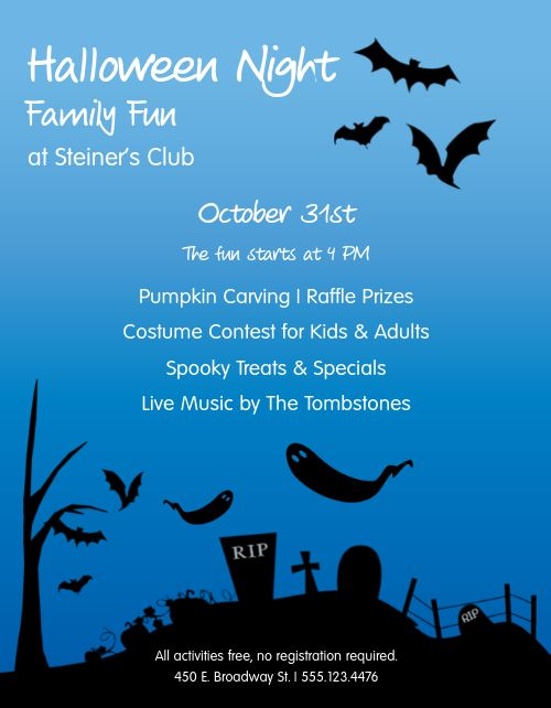 Halloween Restaurant Promo Flyer
