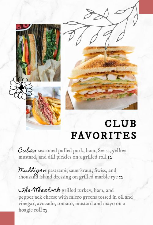 Country Club Table Sign