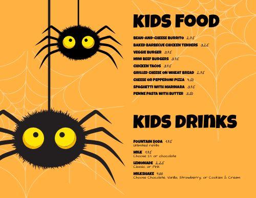 Web Kids Menu