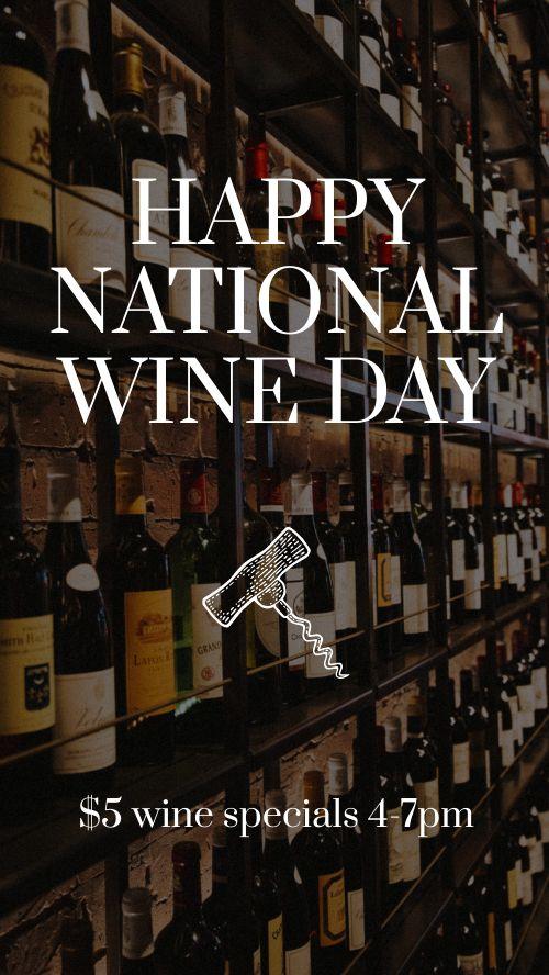 Wine Day FB Story