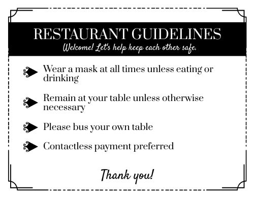 Guidelines Signage
