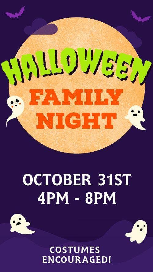 Halloween Family Night Instagram Story