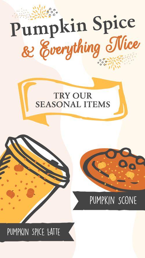 Pumpkin Seasonal Instagram Story