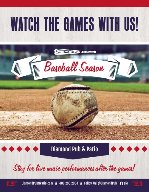 Baseball Watch Party Flyer
