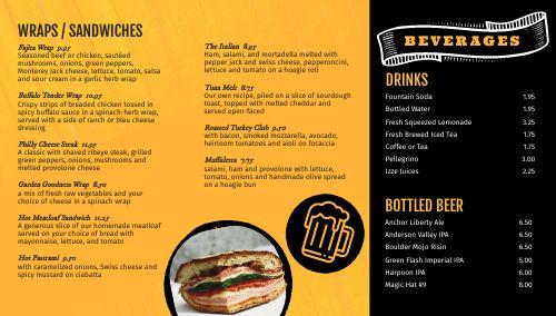 Bar Dining Digital Menu Board